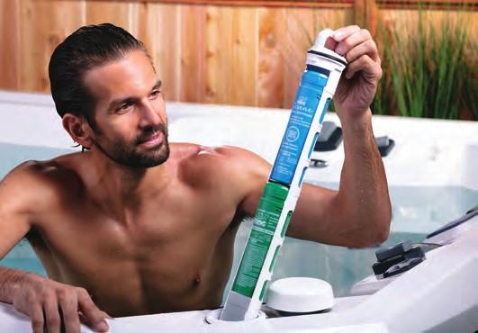 Marquis swim spa in-line sanitace